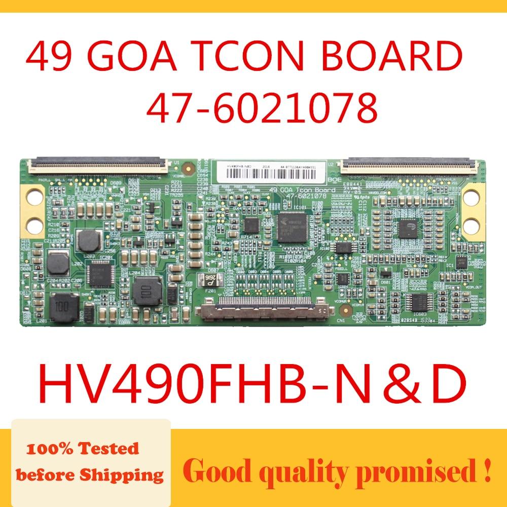 Tablero Tcon 49 GOA TCON tablero 47-6021078 HV490FHB-N & D placa lógica para LG 49LH590V-ZD placa de circuito Original SMART TV