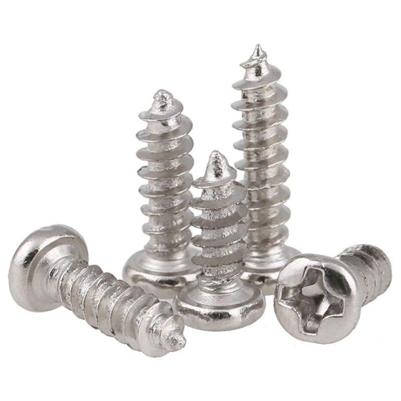 GuHua cabeza redonda giratoria tornillo pequeño electrónico endurecido PA cabeza de sartén autoroscado Mini tornillos M2M2.6M3 500 piezas