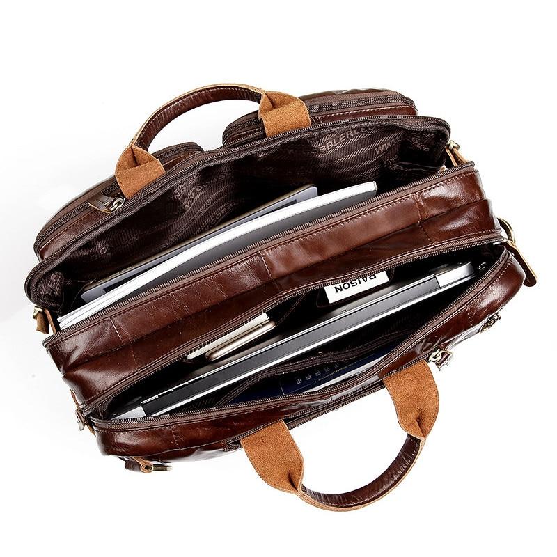 Cobbler Legend Bags for Men Laptop Bag Briefcase Brand Genuine Leather Briefcase For Man Leather Bag Laptop Crossbody Bag New