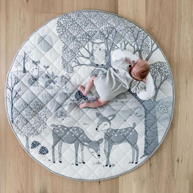 Детский игровой коврик, напольные коврики для детской комнаты, креативные напольные коврики для детской комнаты с оленем