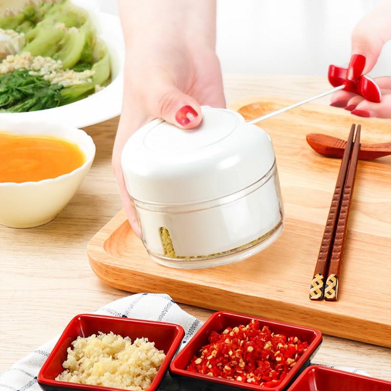 Prensa Manual de ajo, trituradora de jengibre, picadora multifuncional para carne, frutas...