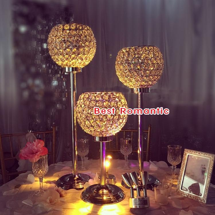 1 piezas boda Globo de Cristal de mesa 24 alto diámetro 10/de cristal pilar para decoración de la boda