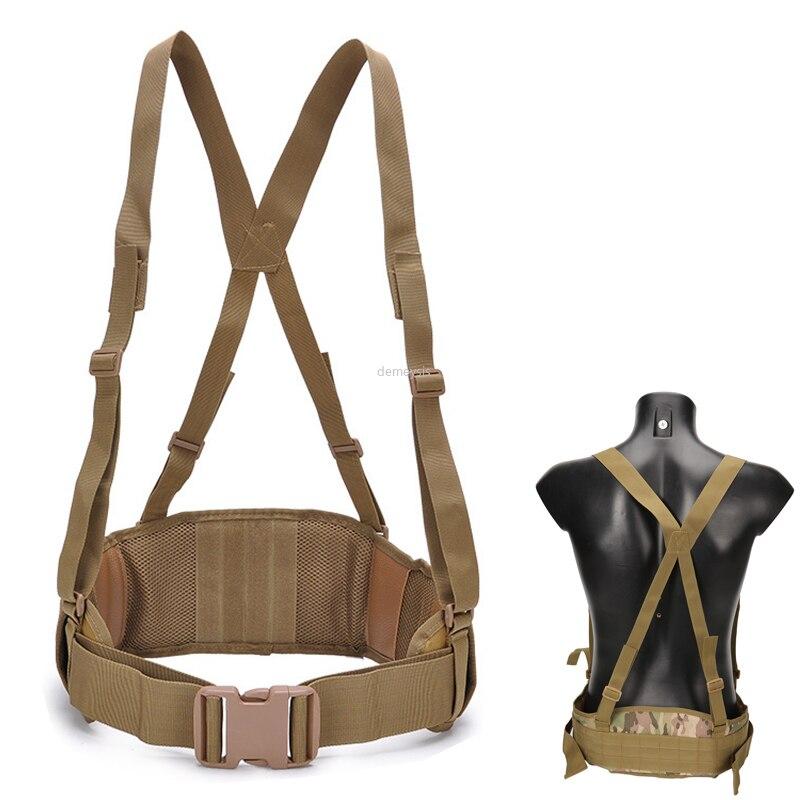 Molle cinturón militar de tiro correa de hombro ajustable cinturón táctico de combate cinturón acolchado Deportes de caza cinturones acolchados suaves