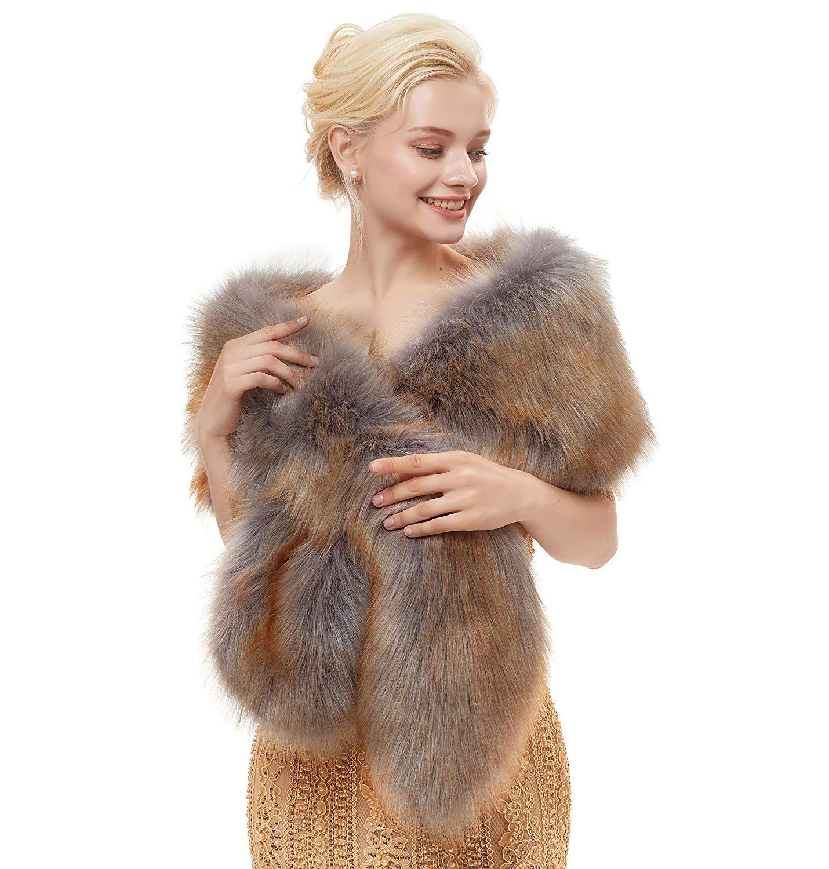 2019 mujeres Bolero nupcial Faux Fur Shawl Wrap Bolero boda Fur Cape invierno capa Bolero chal de mujer boda chal vestidos chal