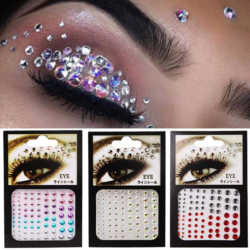 Tattoo Aufkleber Diamant Make-Up Eyeliner Lidschatten Gesicht Strass Aufkleber Schmuck Augen Make-Up Kristall Augen Aufkleber