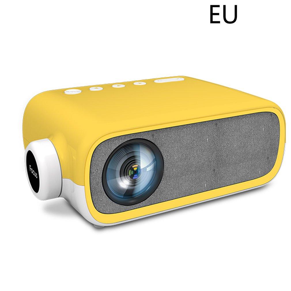 Yg280 جهاز عرض صغير عالية الوضوح 1080p المحمولة المسرح المنزلي فيلم لايف ألعاب Led مايكرو العارض الأصفر