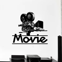 M342     autocollants muraux en vinyle pour salle de cinema  Film TV  Style de londres  decoration de maison