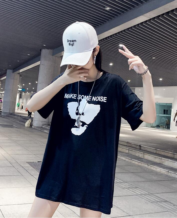 ZNG 2020 nueva moda camiseta mujer Primavera Verano niñas estampado manga corta cuello redondo algodón mujeres Top Slim Fit suave mujer camiseta