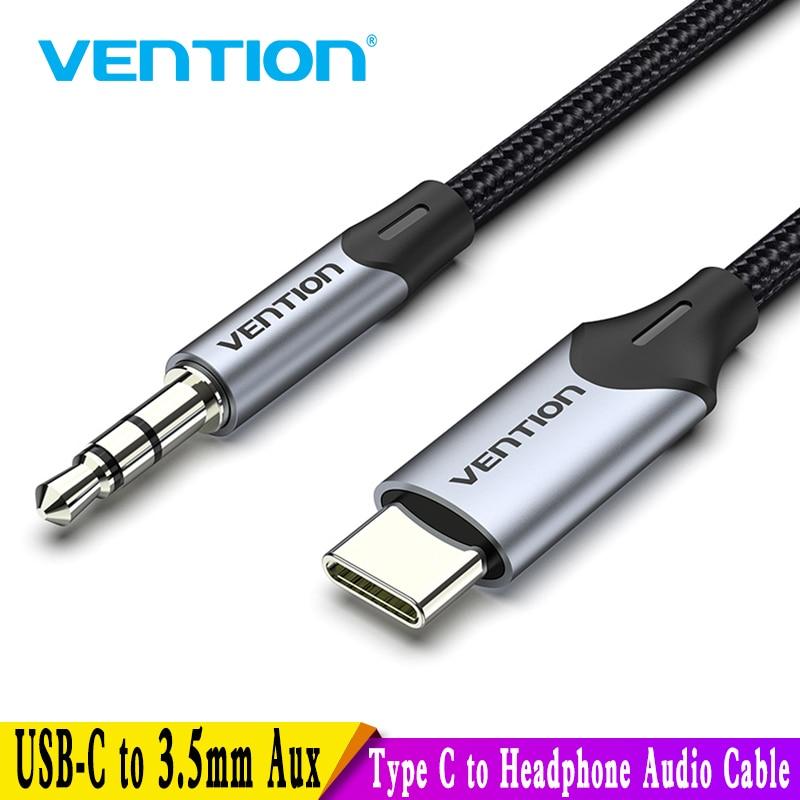 Vention USB C إلى 3.5 مللي متر نوع C إلى Aux سماعة 3.5 جاك محول الصوت كابل لهواوي P40 nova7 شاومي Mi 6 9 10 برو Oneplus 7