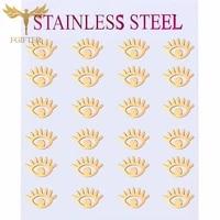 2021 trendy evil eye earrings fashion jewelry 12 pairs gold stainless steel stud earring for women men jewelry wholesale