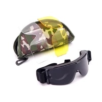 military tactical goggles windproof hunting shooting airsoft paintball hiking glasses uv anti uv motorcycle cs military glasses