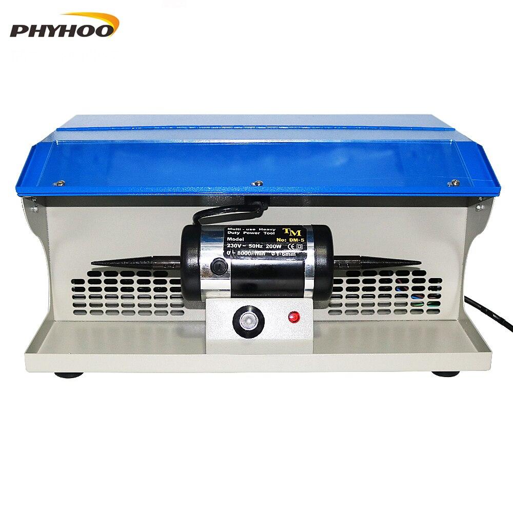 PHYHOO DM-5 تلميع التلميع آلة مع الغبار جامع مقاعد البدلاء مجوهرات الملمع متعددة الاستخدامات الثقيلة السلطة أداة 8000RPM