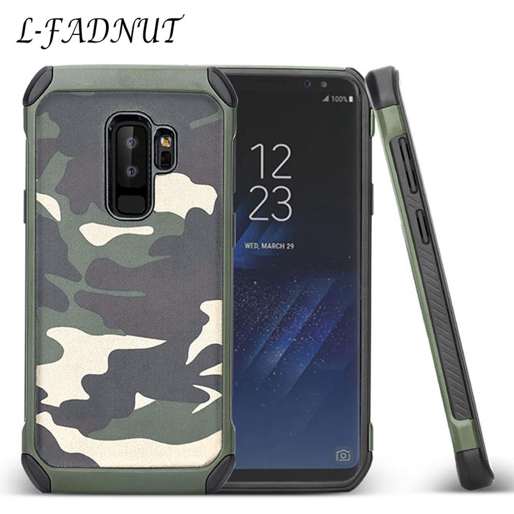 Funda protectora de camuflaje para Samsung Galaxy S10 de TPU y PC para Samsung S9 Plus S8 S7 edge S6 S5 Neo