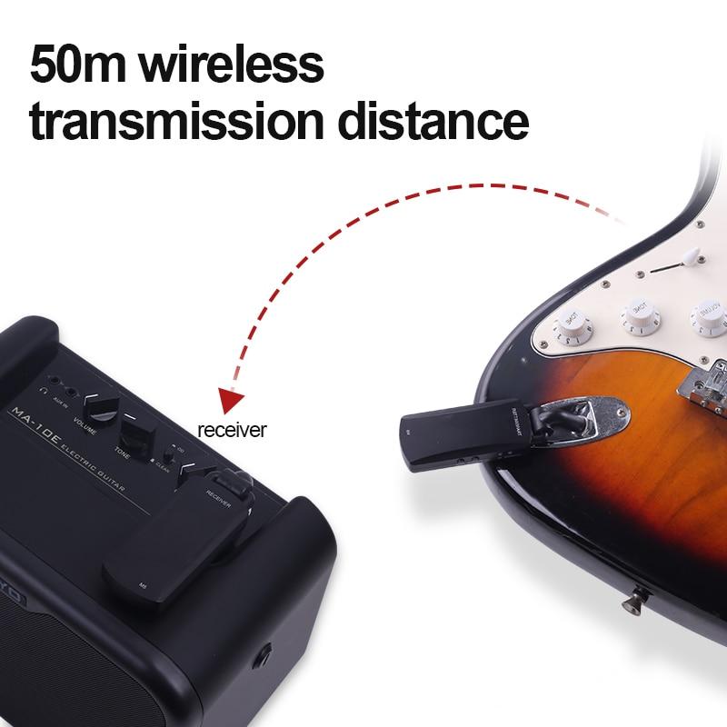 Wireless Guitar Transmitter Professional Guitar Connector M5 Transmission Distance 50 Meters 5.8G Model Guitar Pickup enlarge