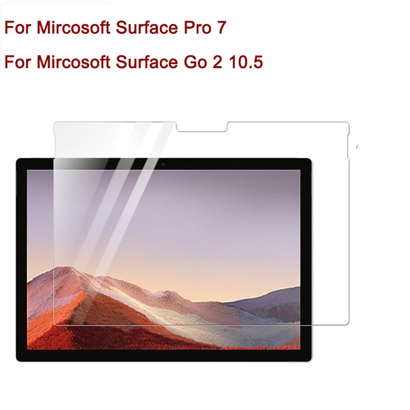 Tempered Glass For Microsoft Surface GO 2 2020 10.5 inch Pro 7 12.3 Tablet Laptop Screen Protective