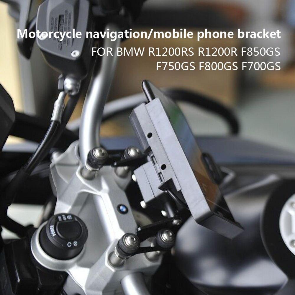Soporte de manillar de motocicleta para teléfono móvil, soporte de placa GPS para BMW R1200R R1200RS F750GS F850GS F700GS F800GS