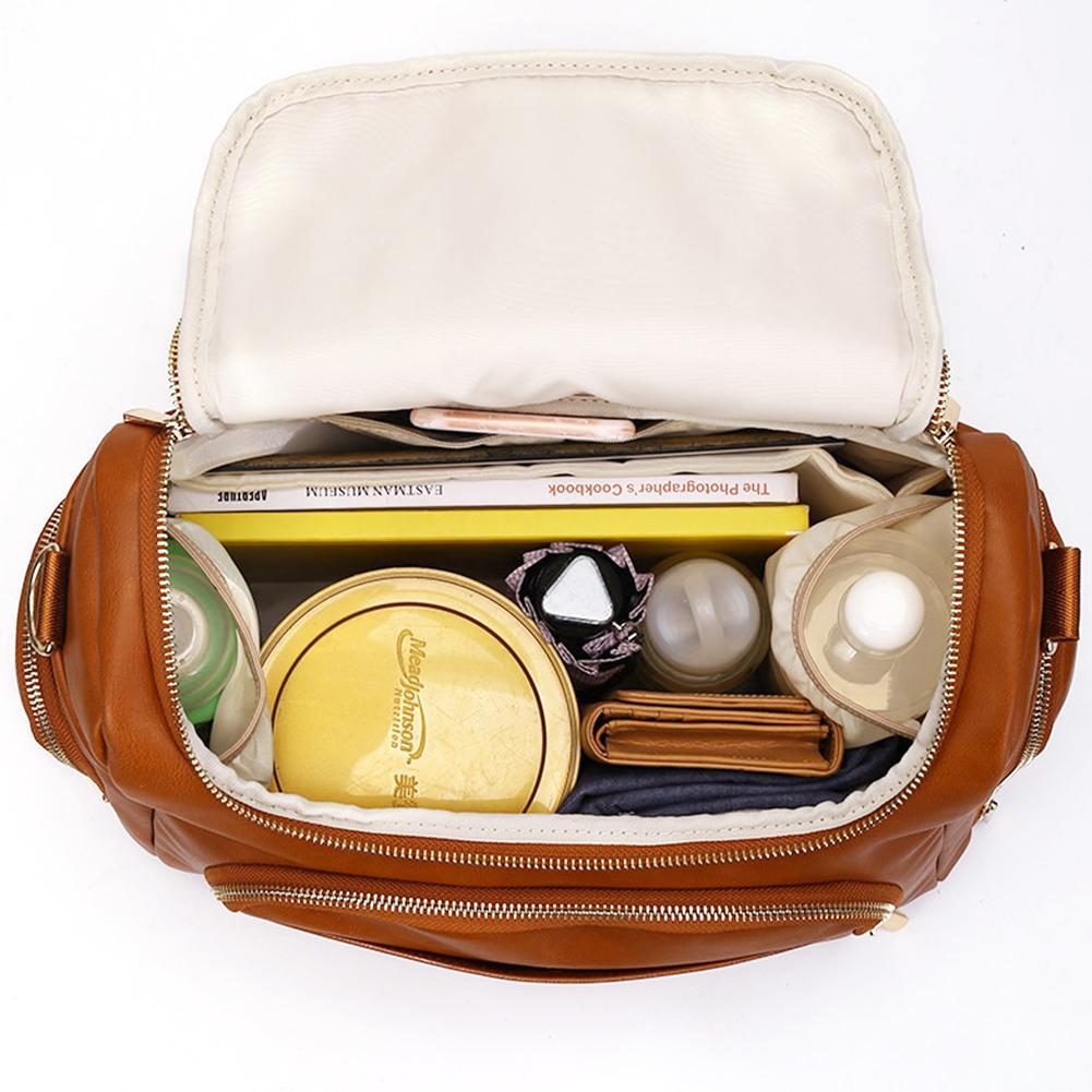 Sac à langer en cuir PU de grande capacité   Sac pour bébé et maman, sac de voyage de styliste pour soins de bébé