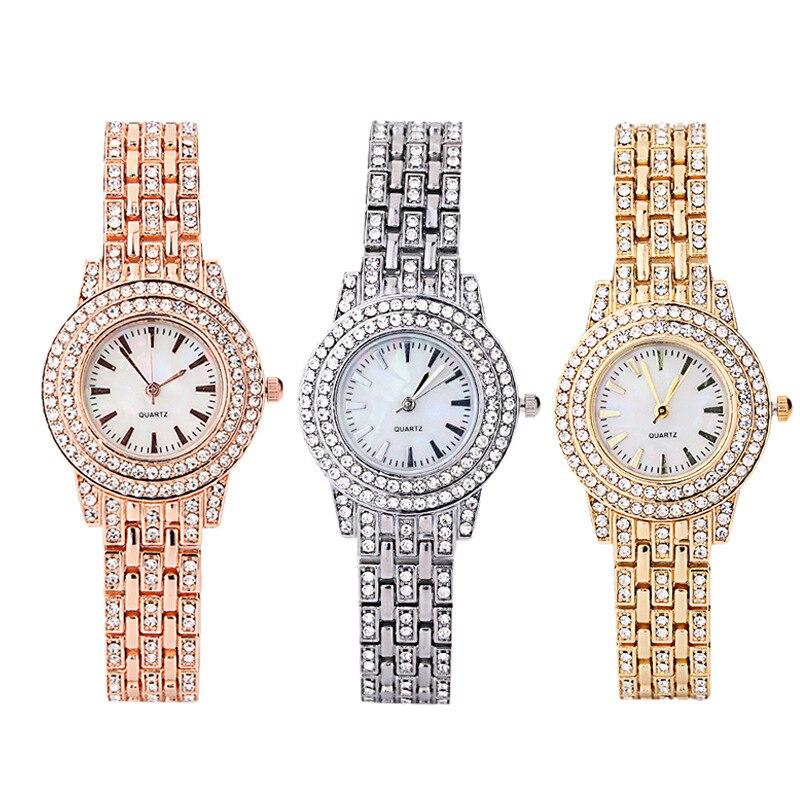 Бриллиантовые женские Элитный бренд часы 2021 Стразы Элегантные женские наручные часы золотые часы наручные часы для женщин relogio feminino