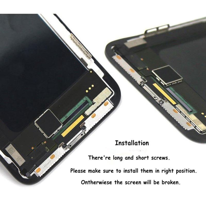 2Pcs For iphone X XS Max XR LCD Display Screen OEM Digitizer With 3D Touch Digitizer Assembly No Dead Pixel For iphone X LCD enlarge
