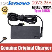 Original 65W 20V 3.25A TypeC USB adaptateur secteur chargeur dordinateur portable pour Lenovo ThinkPad E470 E480 E490 E495 E580 E590 GaN L380 L390 P51s