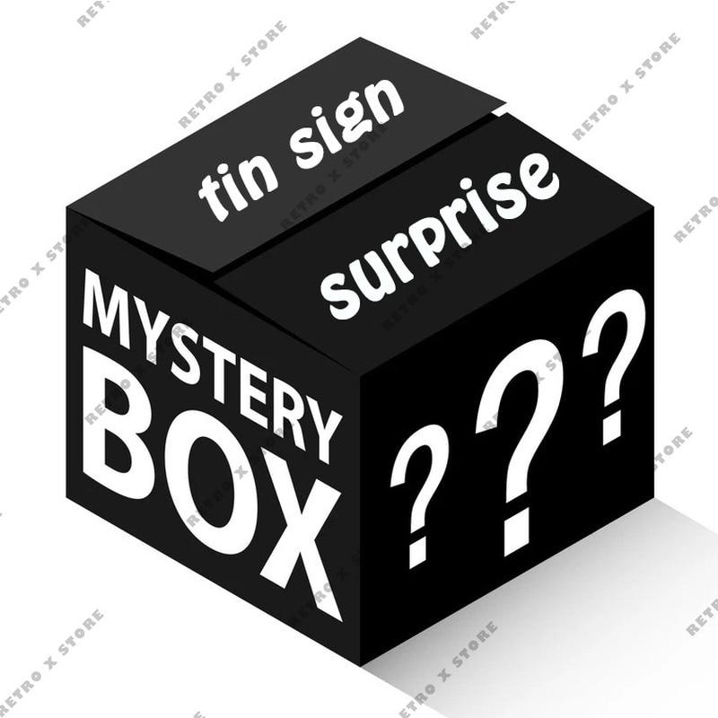 Коробка сюрпризов/различные загадочные пакеты/жестяной знак/загадка глухая коробка/металлический постер настенное искусство домашний дек...