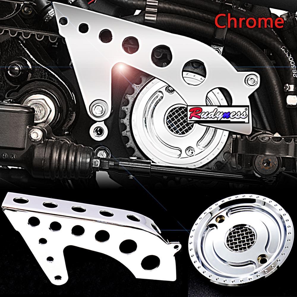 Delantero de la motocicleta cromo polea del motor de la cubierta superior conjuntos para Harley Sportster XL 883 1200 48 72 supermínima 2004- los modelos 2019