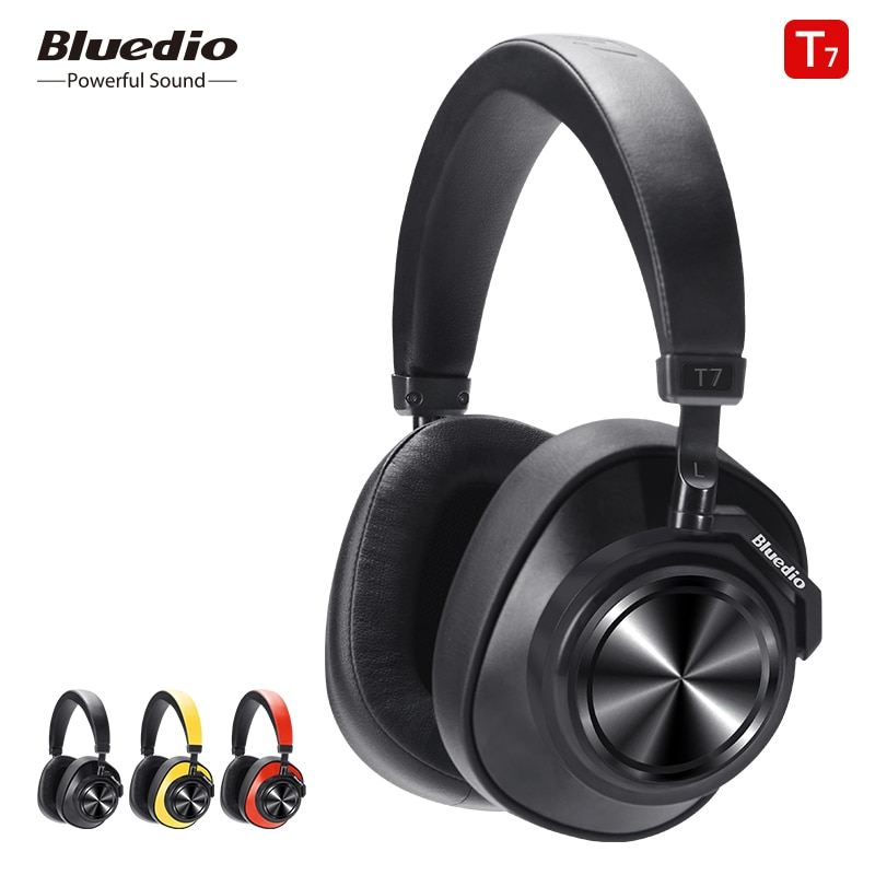 Bluedio T7 سماعة بلوتوث لاسلكية سماعات ANC بلوتوث 5.0 HIFI الصوت مع 57 مللي متر مكبر الصوت التعرف على الوجه للهاتف