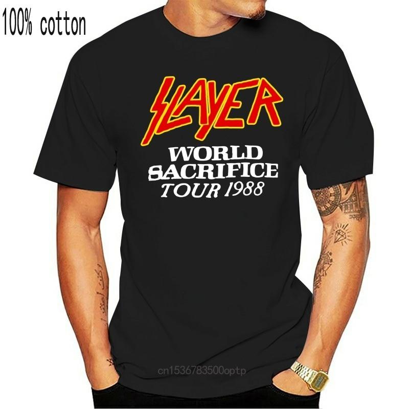 New 1988 SLAYER Root Of All Evil WORLD SACRIFICE tour T shirt usa size