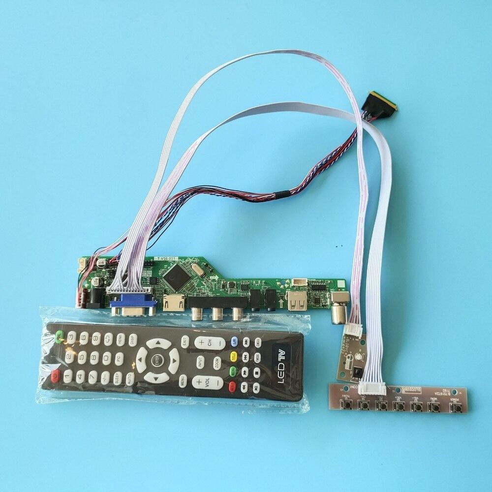 لوحة شاشة LED مع جهاز تحكم عن بعد للتلفزيون ، 40 سنًا ، 1366 × 768 ، Doard ، LCD ، VGA ، AV ، USB ، HDMI ، LVDS