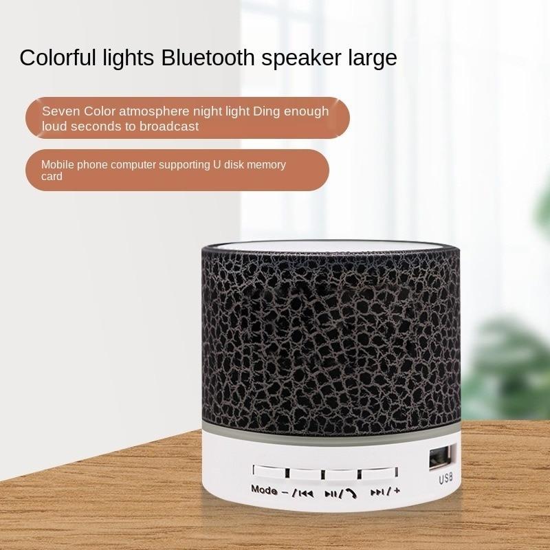Bluetooth Speaker Support TF Mobile Phone Computer Small Steel Mini Subwoofer Speaker Wireless Led Luminous Speaker enlarge