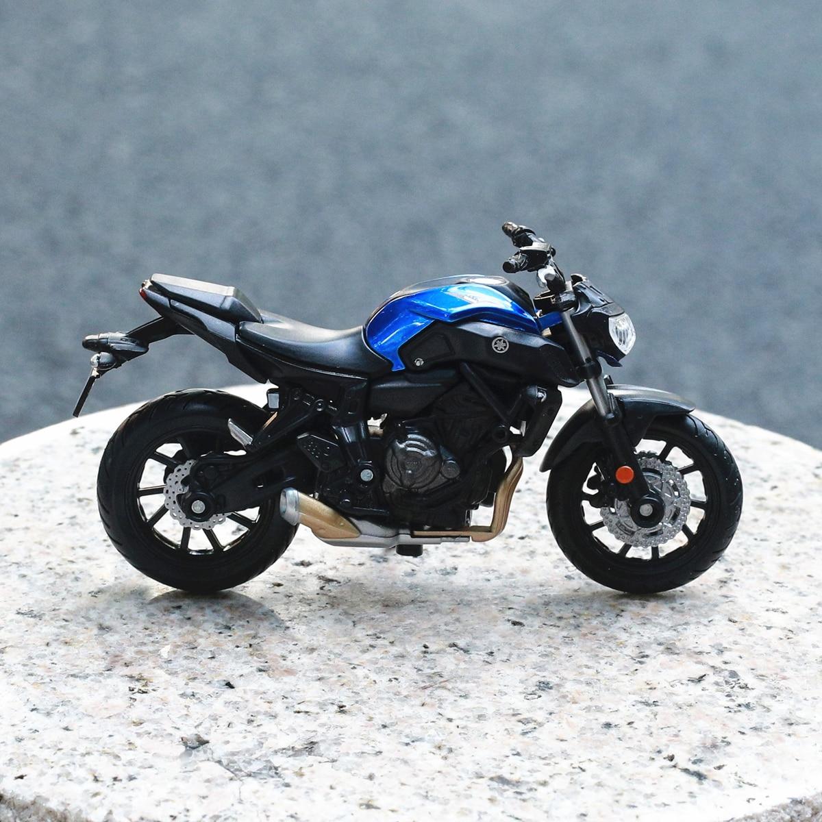 Модель мотоцикла Maisto 1:18 2018 YAMAHA MT-07, металлическая модель мотоцикла, коллекция игрушек, мини-подарок на мотоцикл