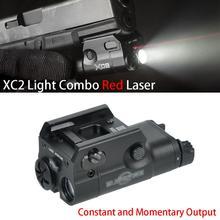 XC2 Ultra Laser Light Compact Pistol Flashlight Combo Red Dot Laser Tactical LED MINI White Light 20