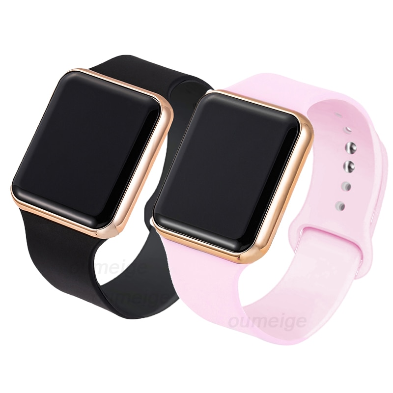 2PCS Digital Lover Watches Couple Watch Sports Lover Wristwatches LED Digital Watch for Men Women Lu