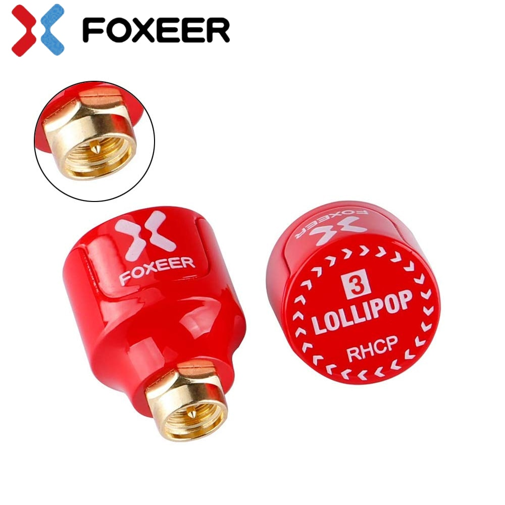 Foxeer Lollipop 3 V3 Stubby Antenna 5.8G 2.3Dbi RHCP LHCP 22.7mm 4.8g FPV SMA Micro Mushroom Receiver Antenna enlarge