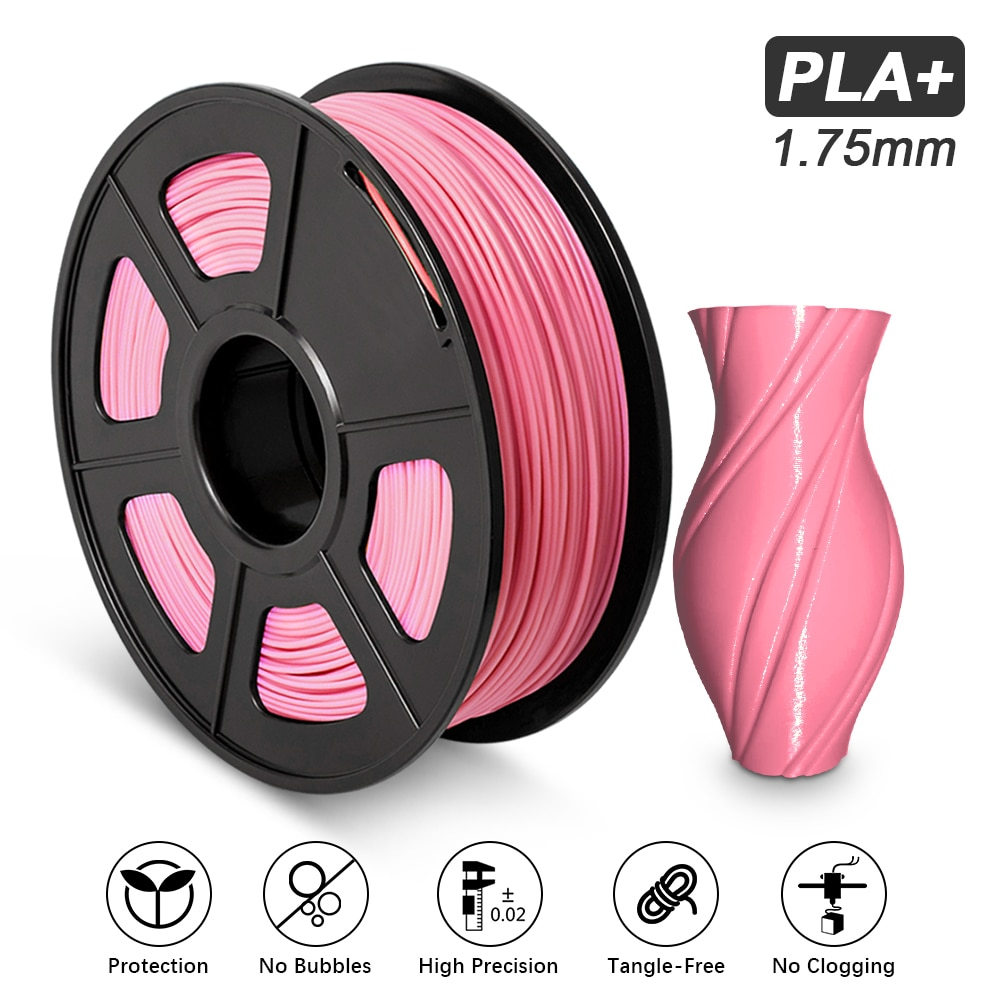 Filamento PLA Plus de alta dureza, no tóxico, Color rosa, 1,75mm, FDM,...