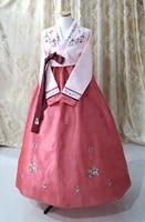 pink hanbok dress custom made korean traditional woman hanbok korean national costume girl woman dress 2019 new