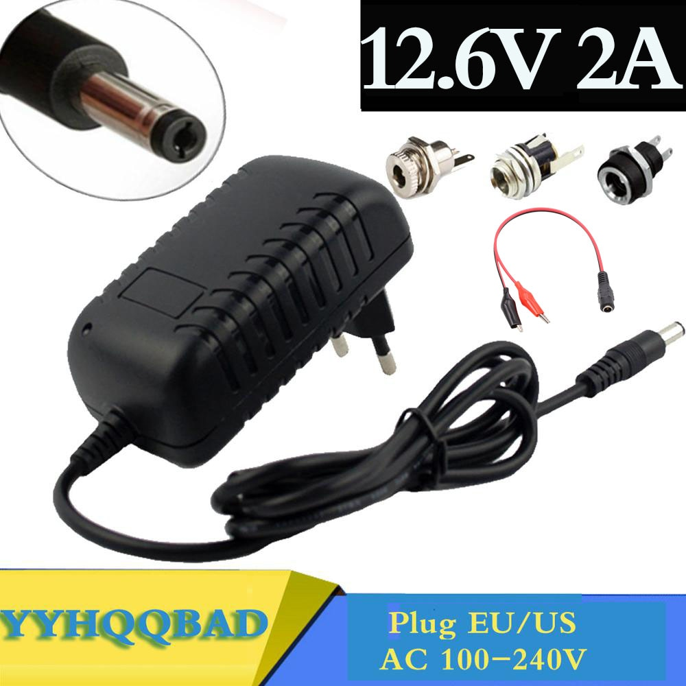 12.6V 2A 18650 Lithium Battery Charger For 12V 3Series Li-ion Battery Polymer Smart Charger 18650 Ba
