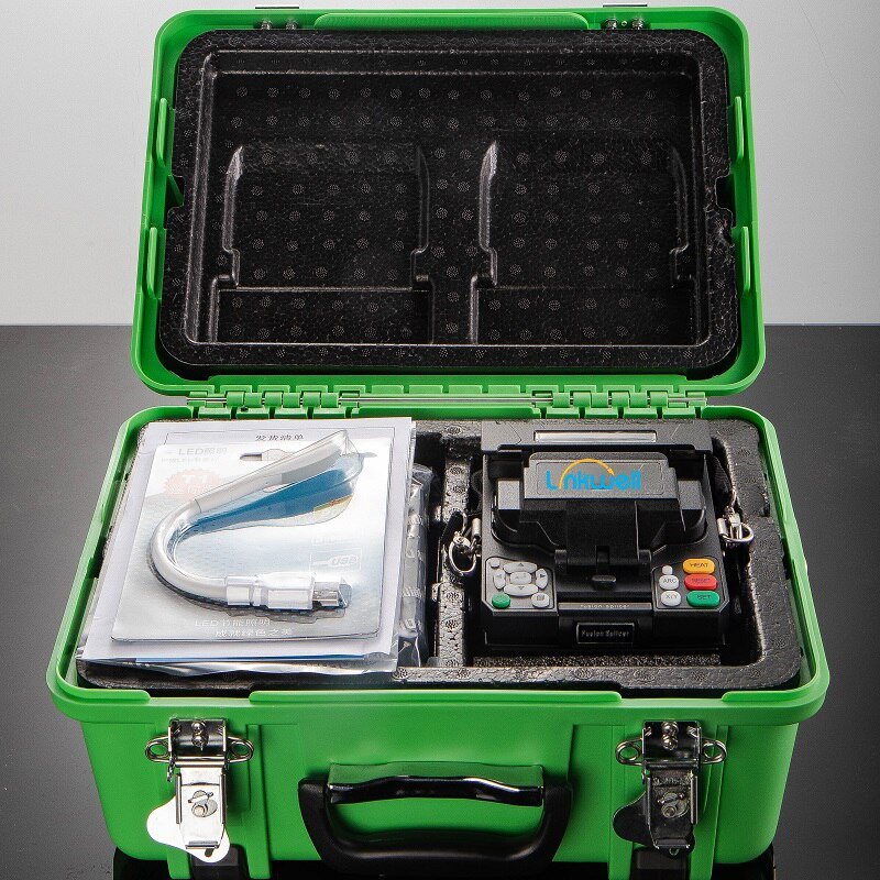 Fully Automatic Fusion Splicer Machine Core Alignment SM&MM Multi-Language FTTH Fusion Splicer with Carry Case enlarge