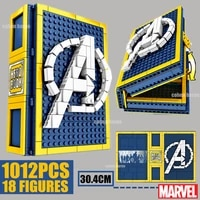 marvel heroes 1012pcs 18 avengers ironman figures spiderman collection book captain america building block brick kid gift toy