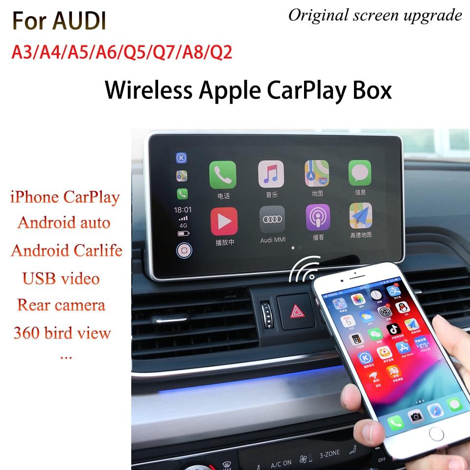 Coche-Video-Interfaz Android Auto CarPlay para AUDI A6 C7 A7 A8L 2012 ~ 2017 MMI 3G RMC + 3G + OEM navegación regular pantalla