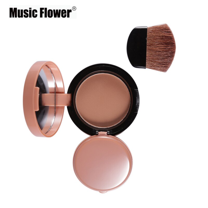 Music Flower Face Contour Blusher Palette Makeup Long Lasting Blush Silky Powder Bronzer Cheek With Brush Kits