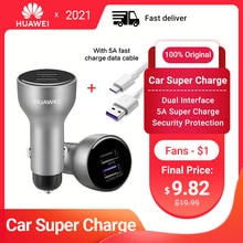 HUAWEI SuperCharge Adapter Car Charger 15W Original Double USB 5A Type-C Cable for HUAWEI Mate30 5G
