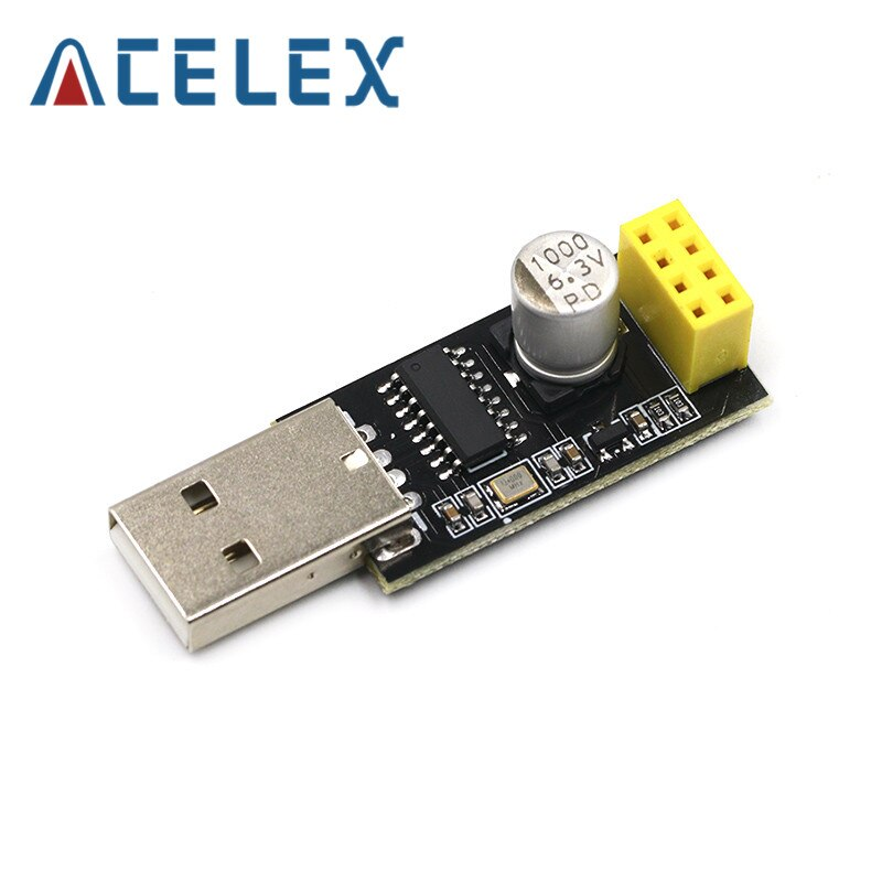 CH340 USB to ESP8266 ESP-01 Wifi Module Adapter Computer Phone Wireless Communication Microcontroller