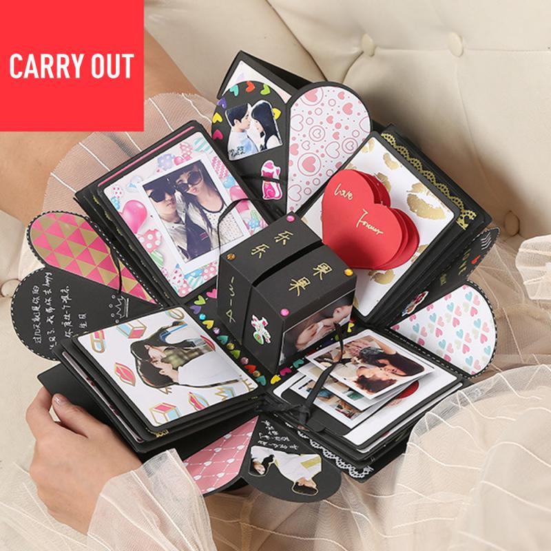 Oferta de 2020, caja de álbum DIY de explosión, álbum de recortes, regalo de fiesta de cumpleaños de boda, hermoso regalo hecho a mano a la moda, entrega rápida