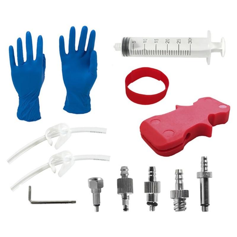 Hot Hydraulic Brake Bleed Kit Brake System Mineral Oil Brake Funnel Set Bike Repair Tool Kit