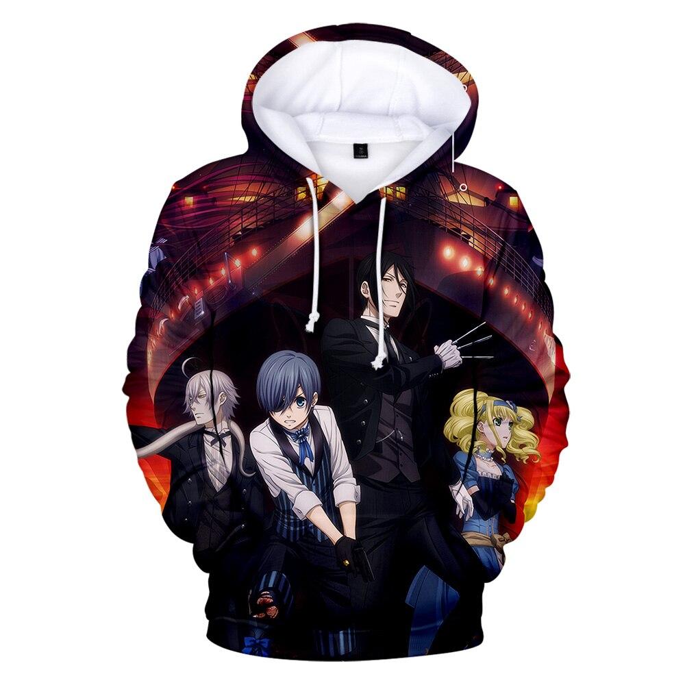 Hot Sale 3D Printed Black Butler Hoodie 3d Anime Sweatshirt Men and Women Fashion Hoodie Spring / Fall Casual Pullover Boy Coat