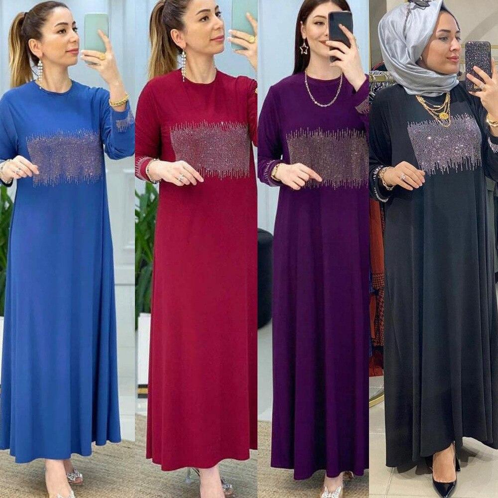 MD Dubai عبايات للنساء 2021 فستان متواضع مغربي الجلابة بأكمام طويلة ملابس إسلامية قفطان كيمونو تركي بوبو