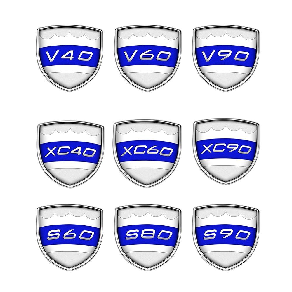 Para VOLVO S60 S80 S90 V40 V60 V90 XC40 XC60 XC90 guardabarros de maletero trasero Logo insignia emblema pegatina Metal placa calcomanía Accesorios