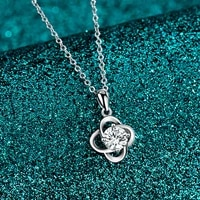 mosangshi s925 sterling silver necklace clavicle chain clover lmitation diamond pendant fashion and romantic love keepsake