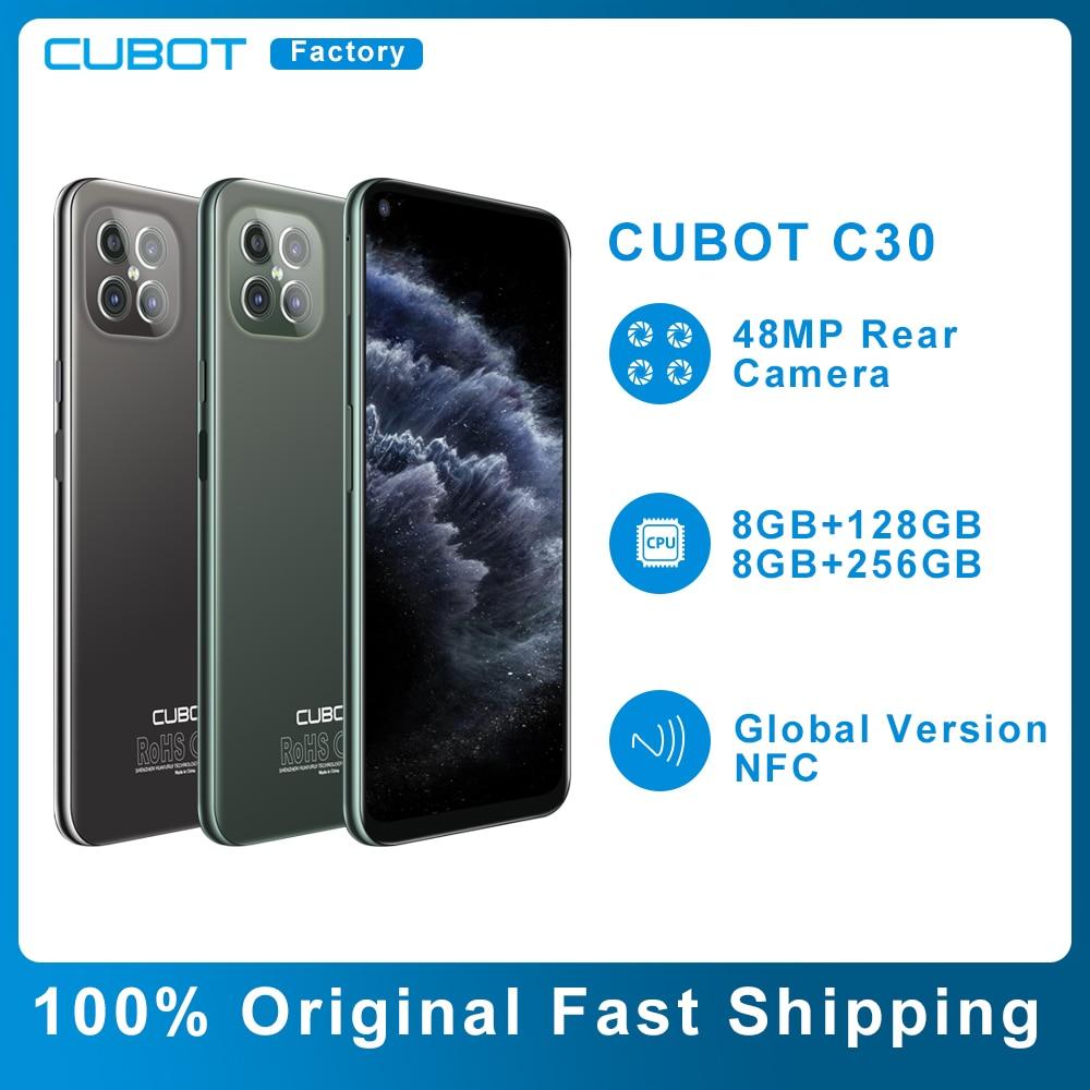 Перейти на Алиэкспресс и купить Чехол для CUBOT C30 смартфон 8 ГБ + 128/256 ГБ NFC 4G глобальная версия мобильных телефонов 48MP сзади Quad AI Камера 32MP селфи Android 10